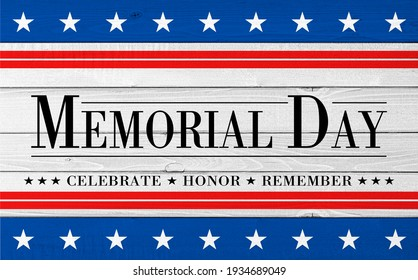 USA Memorial Day banner background