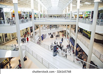 USA, MINNEAPOLIS  - MARCH 09: Mall of America inside with people on March 09, 2015 in Minneapolis, USA.