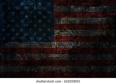 Usa motherboard background texture