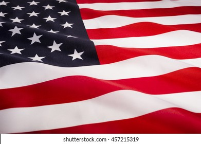 USA National Flag, close-up
