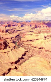 USA nature - Grand Canyon. Vintage color style.
