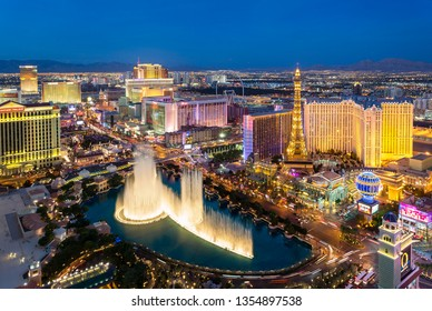 USA, Nevada, Las Vegas, November, 20, 2018- Skyline of Las Vegas