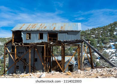 USa, Nevada, White Pine County: The main ore processing building at Belmont Mill.