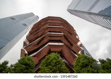 "USA, New York 2019: ""The Vessel"" is 16-story art sculpture in Hudson Yards."