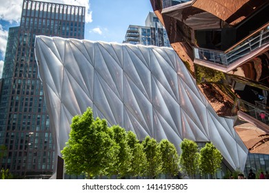 "USA, New York 2019: ""The Vessel"" is 16-story art sculpture in Hudson Yards"