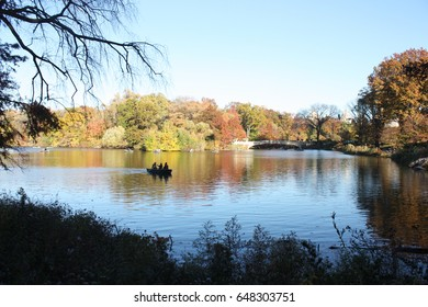 USA, New York, Central Park, November 2016, people are enjoying a break in the park