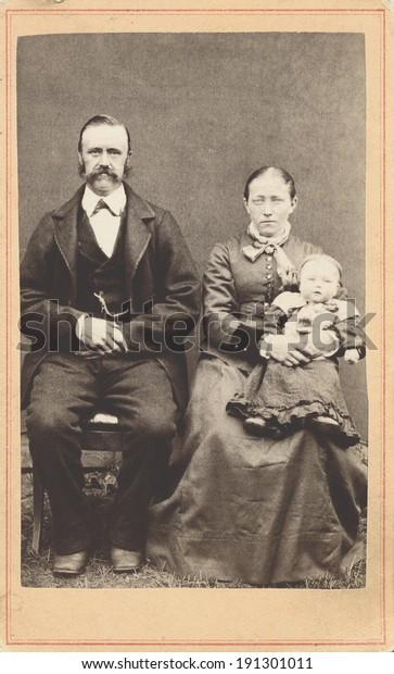 стоковая фотография Usa New York Circa 1865 Vintage
