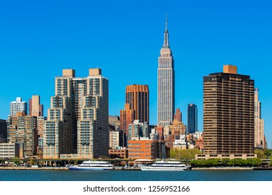 USA, New york city, June, 14-2018, Panoramic of New York City with the Empire State Building