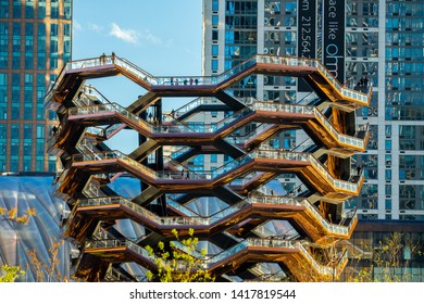 USA. New York City, June 2019: The Vessel is a structure and landmark that was built as part of the Hudson Yards Redevelopment Project in Manhattan, New York City, New York.