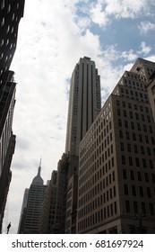 USA, New York - July 27, 2012: main street in Manhattan, New york
