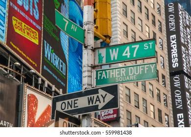USA. NEW YORK. JULY 30, 2013: New York City. Manhattan. Street.