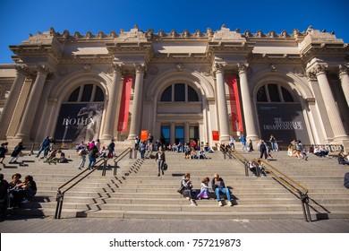 USA. NEW YORK. MANHATTAN. NOVEMBER 2017: Metropolitan museum of art.