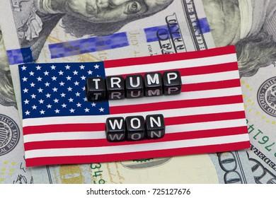 USA, New York -  September 22, 2017: Winner Trump concept on the background