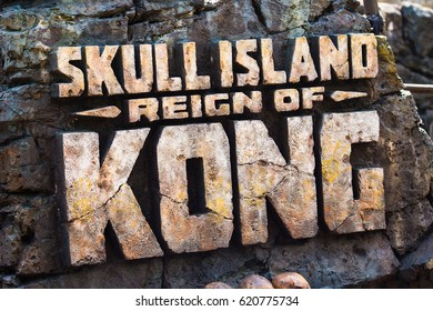 USA. ORLANDO. FLORIDA. APRIL.  2017: Ride Skull Island: Reign of Kong. Islands of Adventure. Universal.