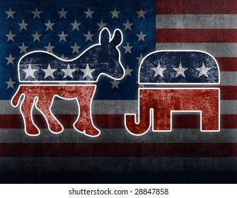 USA political symbols
