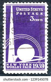 USA postage stamp – circa 1939  3c  -  New York world's fair