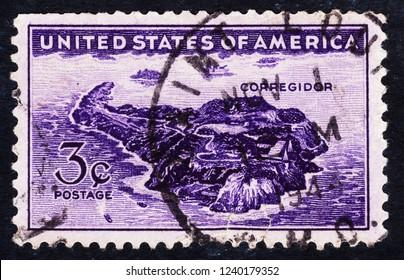 USA postage stamp  circa 1944  3c  -  Corregidor