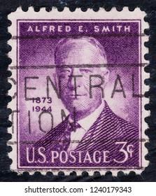 USA postage stamp  circa 1945  3c  -  Alfred E Smith