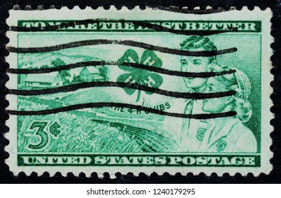 USA postage stamp  circa 1952  3c  -  To make the best better  -  The 4-H clubs