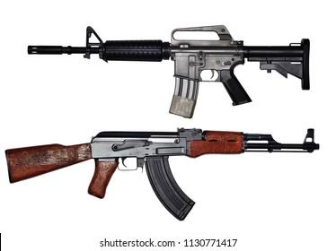 USA rifle versus soviet union rifle.