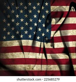 USA silk dirty flag