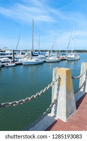 USA, South Carolina, Beaufort, Waterfront park and marina