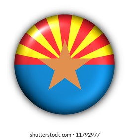 USA States Flag Button Series - Arizona(With Clipping Path)