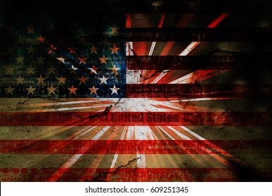 Usa text effect background