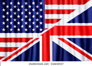 USA and UK flag