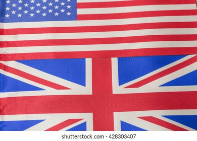 USA and United Kingdom flags
