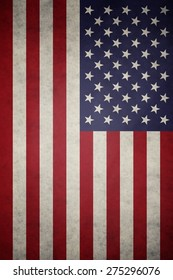 USA, United States of America flag on concrete textured background