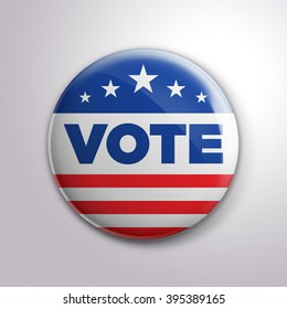 USA Vote button (pin badge)