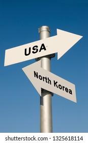 USA vs. North Korea - symbolfoto