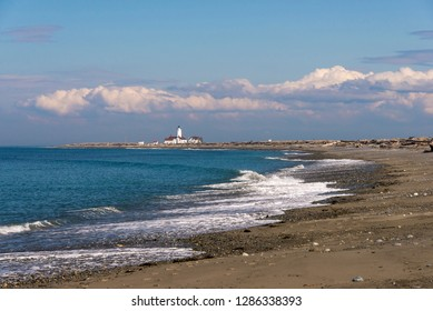 USA, Washington State. Dungeness Spit Lighthouse on largest sand spit in US which is wildlife refuge.