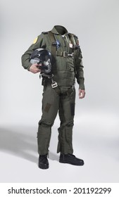Usable fighter pilot's body with his helmet