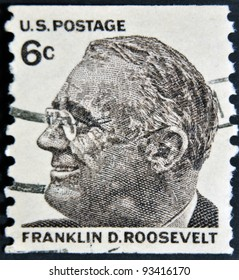 USA CIRCA 1966A Stamp Printed In Shows Image Of The Franklin Delano