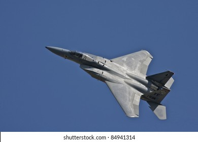 USAF F-15 Eagle making a low flyover