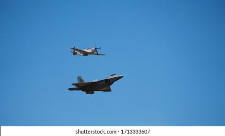 USAF F22 P51 Heritage display