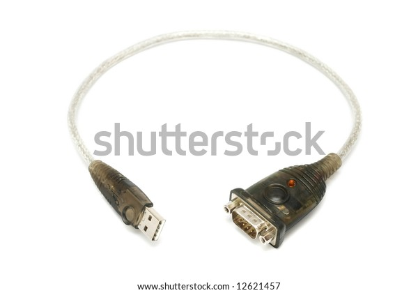 Usb 9 Pin Rs232 Serial Port Stock Photo (Edit Now) 12621457