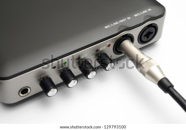 Usb Audio Interface Recording Mixing By Stock Photo (Edit