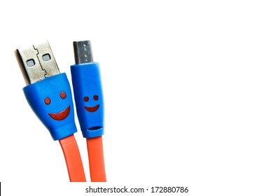 USB cable or cord for charging, valentine.