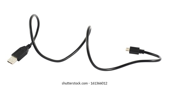 USB cable isolated over white background