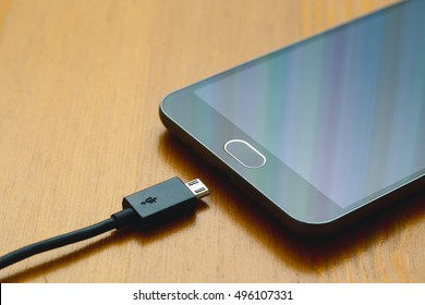 usb cable and smartphone
