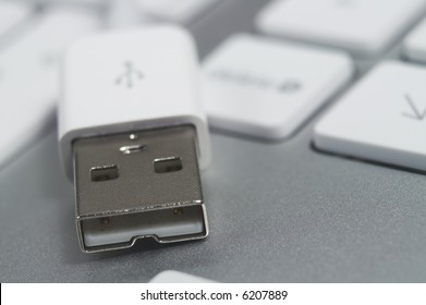 USB Connector with Shallow Depth Of Field