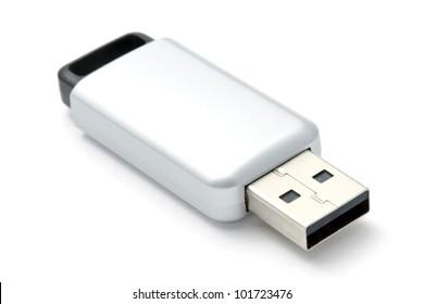 USB Flash Drive closeup on white background