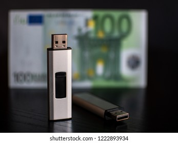 USB Flash Stick with Sensitive Data and a Money