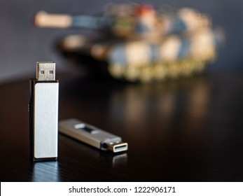 USB Flash Stick with Sensitive Data and and armaments industry.