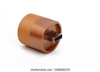 USB flashlighton white background