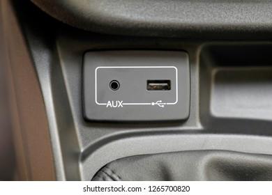 usb port car charger, car interior