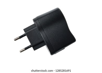 usb wall charger plug isolated on white background